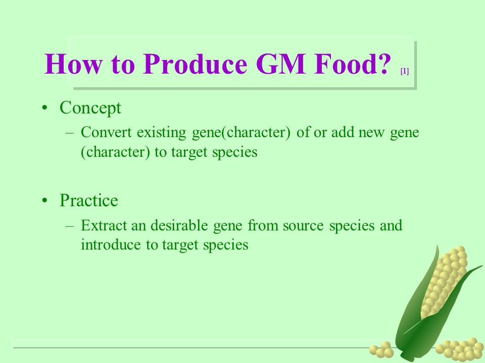How to Produce GM Food [1]
